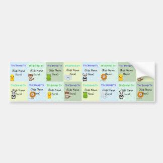 Étiquettes personnalisés d'enfants, autocollants i adhésif pour voiture