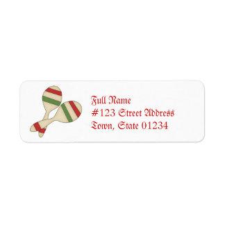 Étiquettes postales de Cinco De Mayo Étiquettes D'adresse Retour