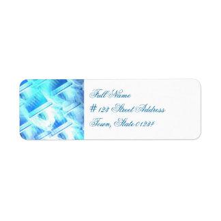 Étiquettes postales de programmation étiquettes d'adresse retour