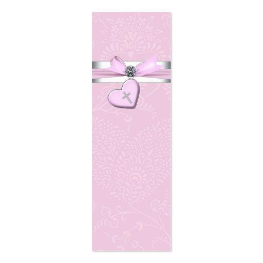 Étiquettes roses de Bomboniere de croix de rose de Carte De Visite