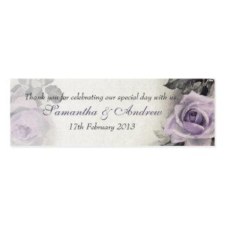 Étiquettes roses vintages de faveur de mariage carte de visite petit format