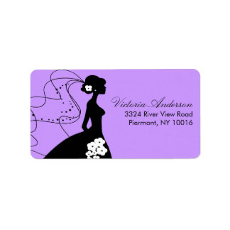 Étiquettes s-adresse de retour de jeune mariée de étiquette d'adresse