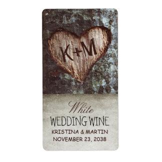 étiquettes vintages rustiques de vin de mariage de