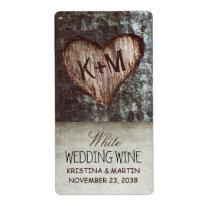 étiquettes vintages rustiques de vin de mariage de étiquettes d'expédition