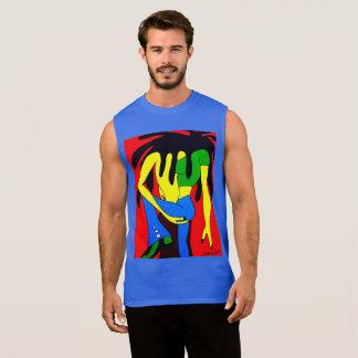 Etnnic Pop Art Sleeveless Shirt