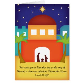 Étoile au-dessus de nativité de Noël de Bethlehem Carte