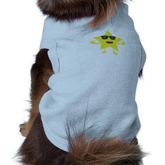 étoile avec des lunettes de soleil t-shirts pour animaux domestiques