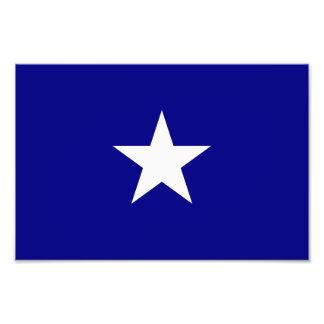 Étoile blanche mignonne de drapeau bleu photographie d'art