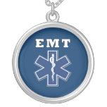 Étoile bleue d'EMT de la vie Collier