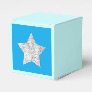 étoile bleue personnalisée de photo ballotin de dragées