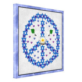 Étoile de David de paix Impressions Sur Toile