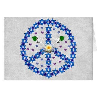 Étoile de David de paix Carte De Vœux
