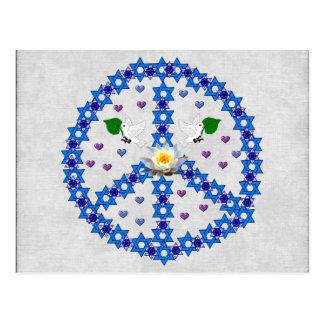 Étoile de David de paix Cartes Postales