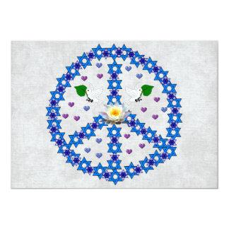 Étoile de David de paix Carton D'invitation 12,7 Cm X 17,78 Cm
