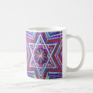 Étoile de David,… un mélange de couleurs Tasse
