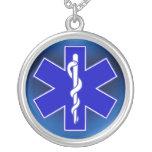 Étoile de la vie/EMT Pendentif Personnalisé
