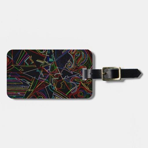 étoile de mélange de couleur étiquette de bagages