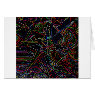 étoile de mélange de couleur cartes de vœux