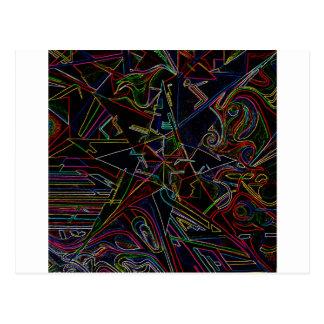 étoile de mélange de couleur cartes postales