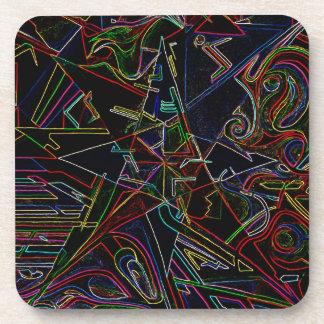 étoile de mélange de couleur dessous-de-verre
