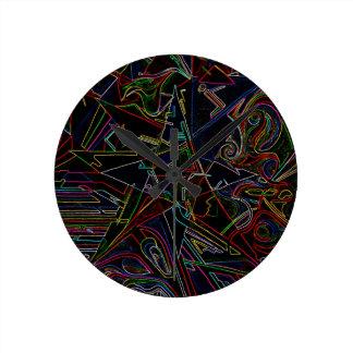 étoile de mélange de couleur pendules murales
