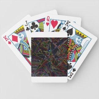 étoile de mélange de couleur cartes bicycle poker