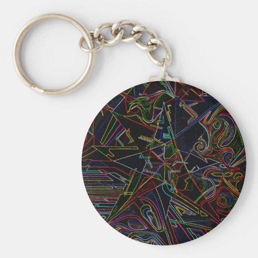 étoile de mélange de couleur porte-clefs