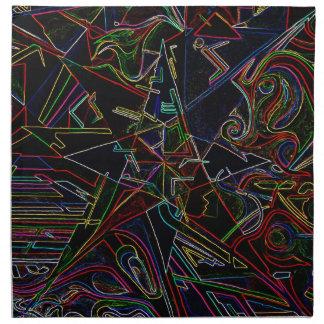 étoile de mélange de couleur serviettes imprimées