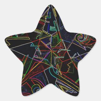 étoile de mélange de couleur sticker étoile