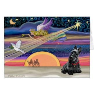Étoile de Noël - écossais Terrier 2B Carte
