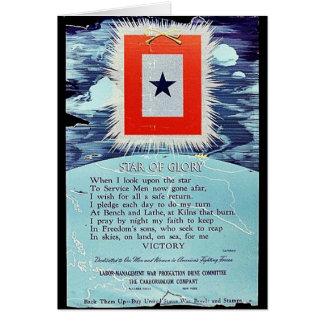 Étoile de victoire de gloire cartes de vœux