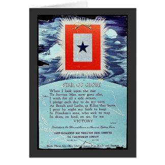 Étoile de victoire de gloire cartes