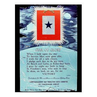 Étoile de victoire de gloire cartes postales
