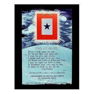 Étoile de victoire de gloire carte postale