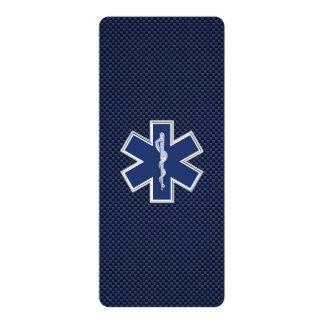 Étoile des services médicaux de secours carton d'invitation  10,16 cm x 23,49 cm