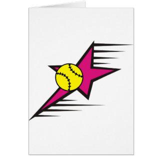 Étoile du base-ball cartes de vœux
