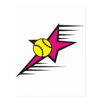 Étoile du base-ball cartes postales