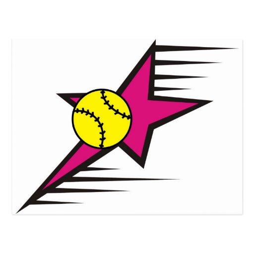 Étoile du base-ball carte postale
