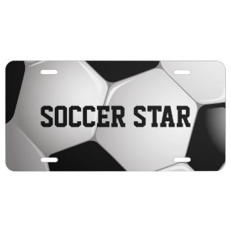 Étoile du football personnalisable de ballon de plaque d'immatriculation