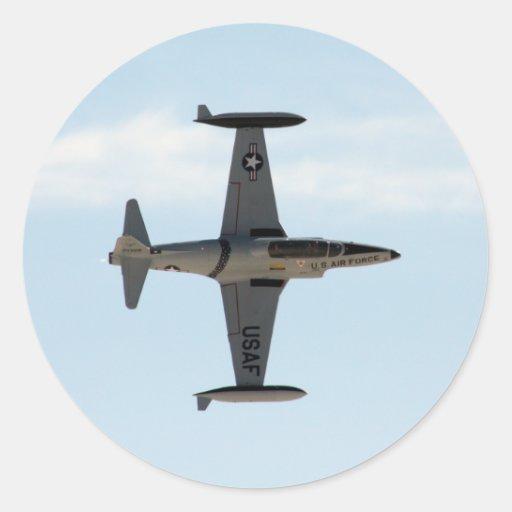 Étoile filante P-80 Autocollants Ronds