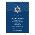 Étoile juive argentée de Josiah d'invitation de
