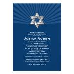 Étoile juive argentée de Josiah d'invitation de Mi
