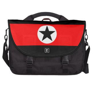 Étoile noire sur le sac rouge d'ordinateur portabl sacs pour ordinateur portable