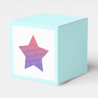 étoile personnalisée de photo boites de faveur