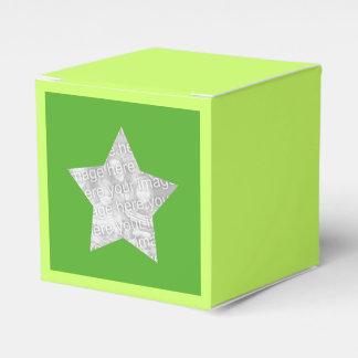 étoile personnalisée de vert de photo boite faveurs de mariage