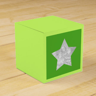 étoile personnalisée de vert de photo boites de faveur
