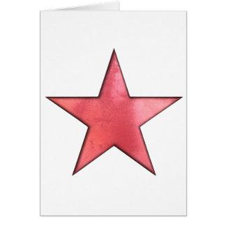 étoile rouge carte de vœux
