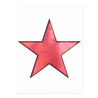 étoile rouge carte postale