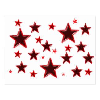 Étoile rouge cartes postales