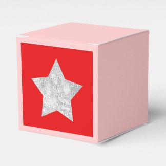 étoile rouge personnalisée de photo boite faveurs de mariage